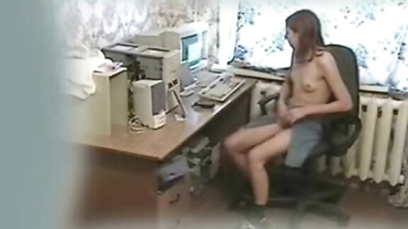 Great quality video of my sister masturbating at PC.